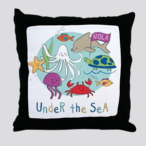 Under The Sea Friends Throw Pillow