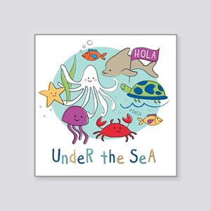 "Under The Sea Friends Square Sticker 3"" x 3"""