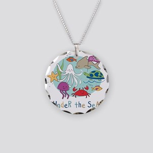 Under The Sea Friends Necklace Circle Charm