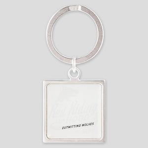 surlalune_logo_white_red Square Keychain