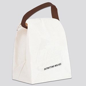 surlalune_logo_white_red Canvas Lunch Bag