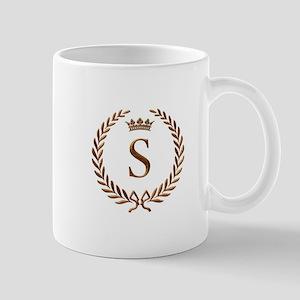 Napoleon initial letter S monogram Mug