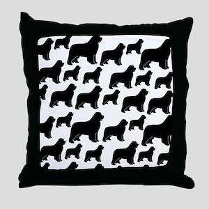 Newfoundland silhouettes Throw Pillow