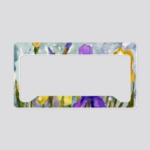 Bearded Iris License Plate Holder