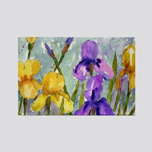 Bearded Iris Rectangle Magnet