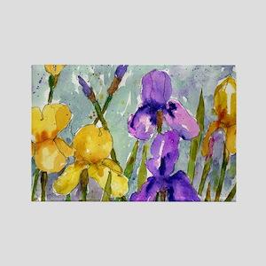 Bearded Iris Rectangle Magnet