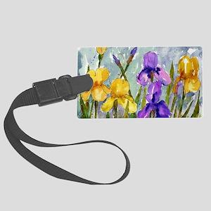 Bearded Iris Large Luggage Tag
