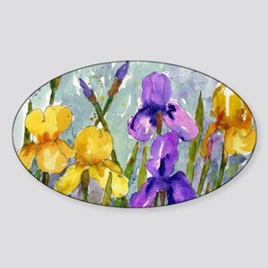 Bearded Iris Sticker (Oval)