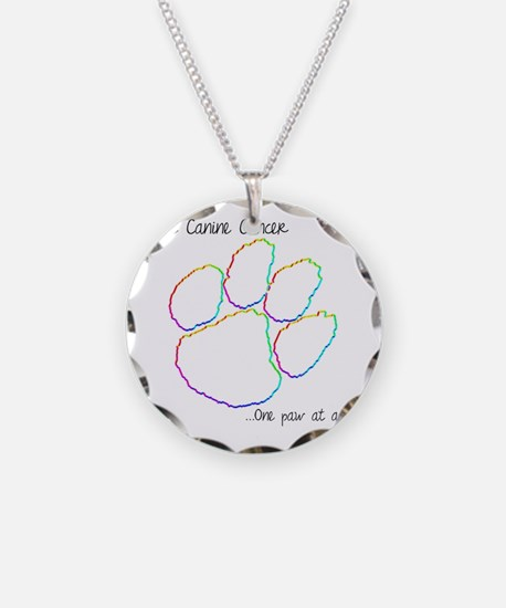 Canine Cancer Paw Necklace