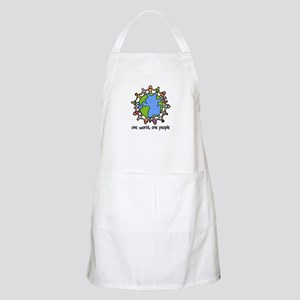 one world,one people BBQ Apron
