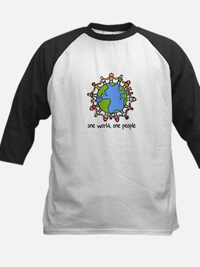 one world,one people Kids Baseball Jersey
