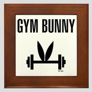 Gym Bunny Framed Tile