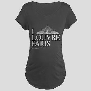 I Louvre Maternity Dark T-Shirt