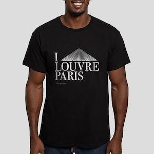 I Louvre Men's Fitted T-Shirt (dark)