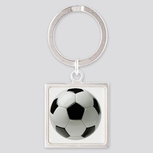 Soccer Ball Square Keychain