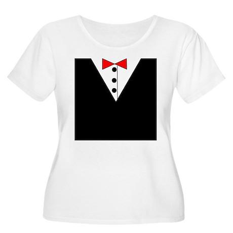 Tuxedo Women's Plus Size Scoop Neck T-Shirt