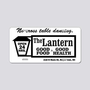 The Lantern, No cross table Aluminum License Plate