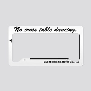 The Lantern, No cross table d License Plate Holder