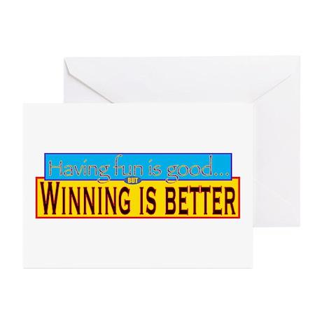 Having Fun vs. Winning Greeting Cards (Package of