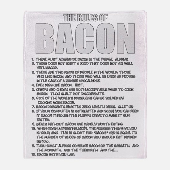 Bacon List Throw Blanket