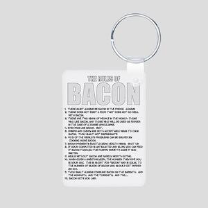 Bacon List Aluminum Photo Keychain