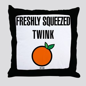 Freshly Squeezed Twink Throw Pillow
