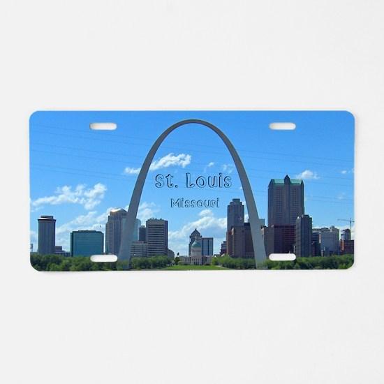 StLouis_5x3_sticker_StLouis Aluminum License Plate