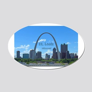 StLouis_5x3_sticker_StLouisS 20x12 Oval Wall Decal