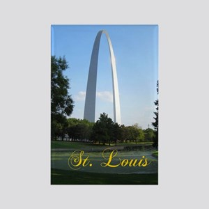StLouis_7x10_Tall_GatewayArch_col Rectangle Magnet