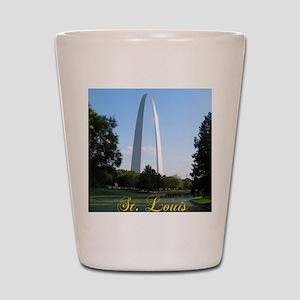StLouis_7x10_Tall_GatewayArch_color_big Shot Glass