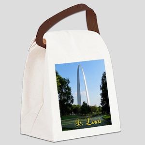 StLouis_7x10_Tall_GatewayArch_col Canvas Lunch Bag