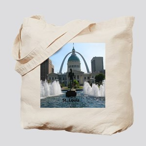 StLouis_10x8_Rect_DowntownStLouis_OldCour Tote Bag
