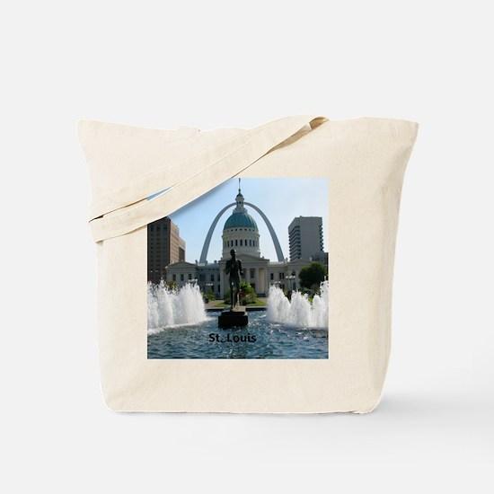 StLouis_10x8_Rect_DowntownStLouis_OldCour Tote Bag
