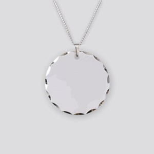 White Necklace Circle Charm