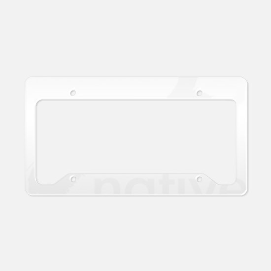 Native License Plate Holder