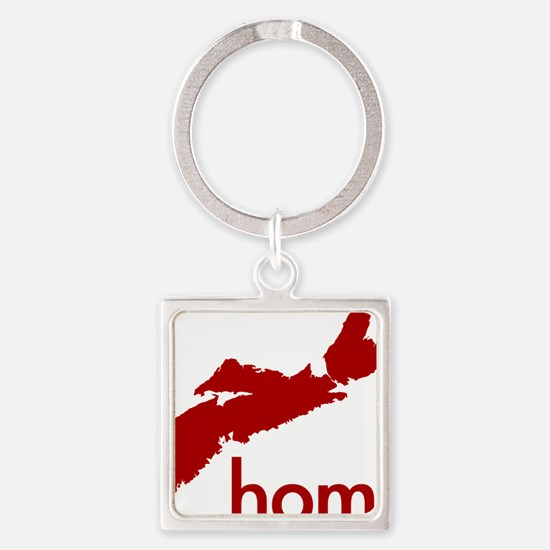 Home (red) Square Keychain