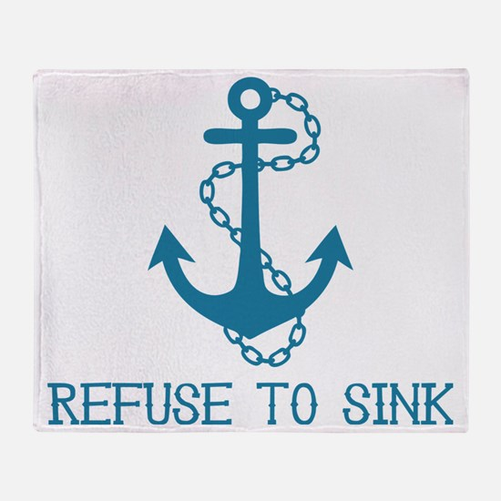 Refuse To Sink Throw Blanket