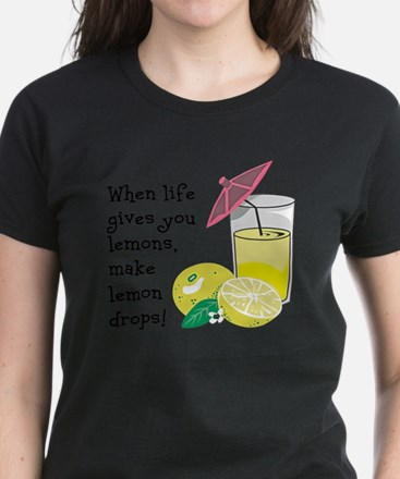 Lemon Drop Martini Women's Dark T-Shirt
