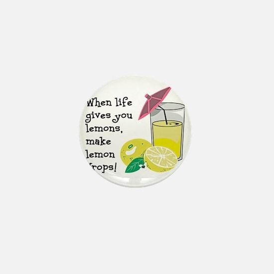 Lemon Drop Martini Mini Button