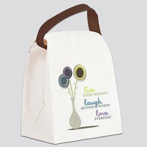 Love Everyday Canvas Lunch Bag