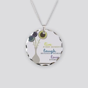 Love Everyday Necklace Circle Charm
