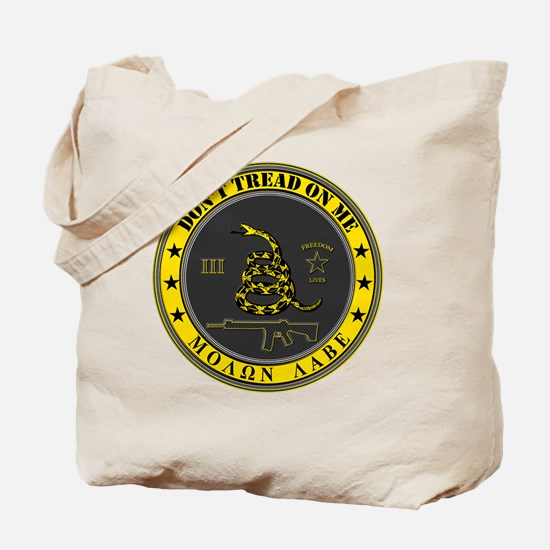Dont Tread On Me (Yellow/Grey) Tote Bag