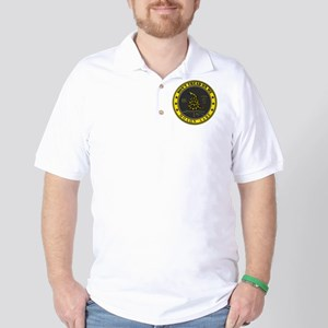 Dont Tread On Me (Yellow/Grey) Golf Shirt