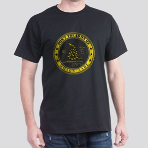Dont Tread On Me (Yellow/Grey) Dark T-Shirt