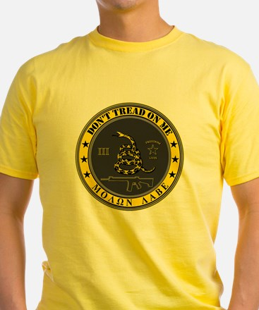Dont Tread On Me (Yellow/Grey) T
