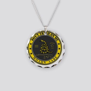 Dont Tread On Me (Yellow/Gre Necklace Circle Charm