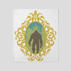Bigfoot Vintage Throw Blanket