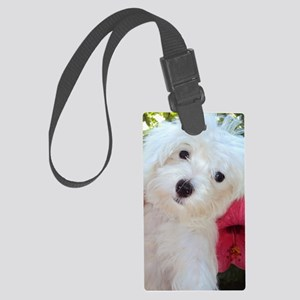 Adorable Ali - Maltese Puppy Large Luggage Tag