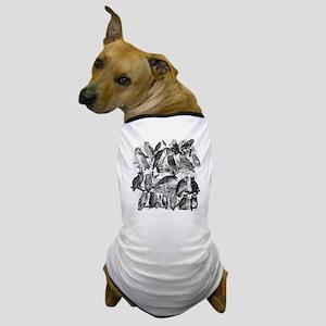 Vintage Owls Dog T-Shirt