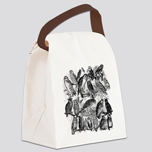 Vintage Owls Canvas Lunch Bag